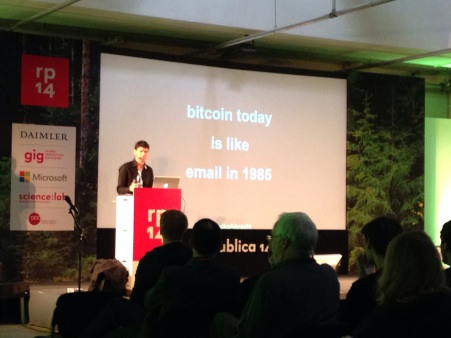 "radoslav albrecht auf der republica 2014 ""bitcoin today is like email in 1985"""
